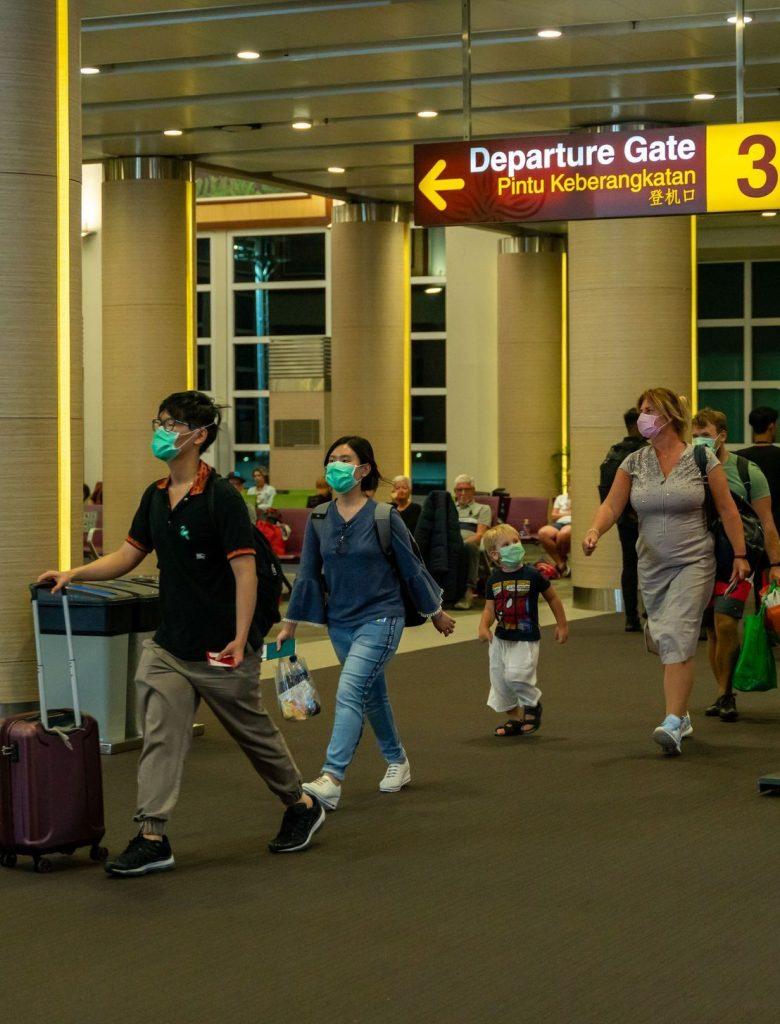 Passenger arriving at bali airport