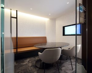 Meeting space for booking at elevate lounge yyc