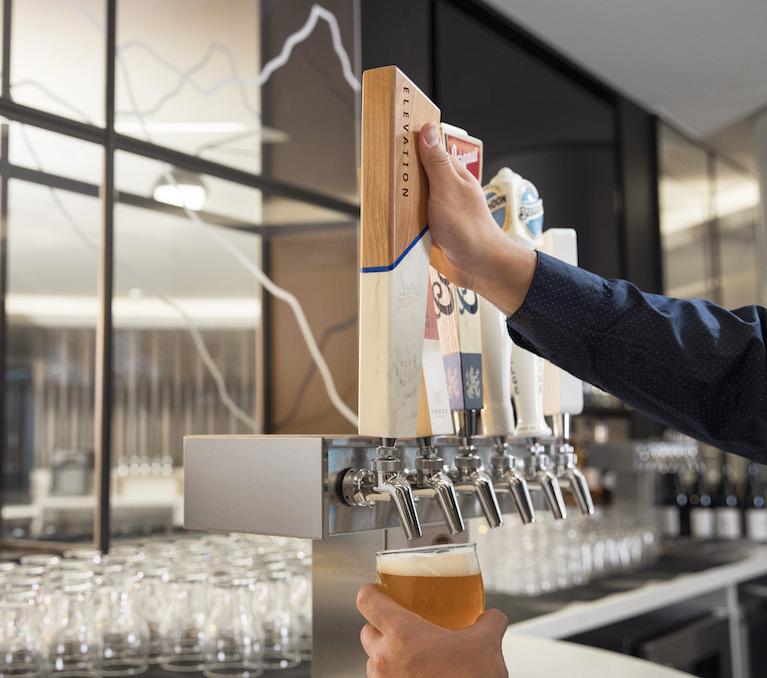Elevate draft beer in YYC