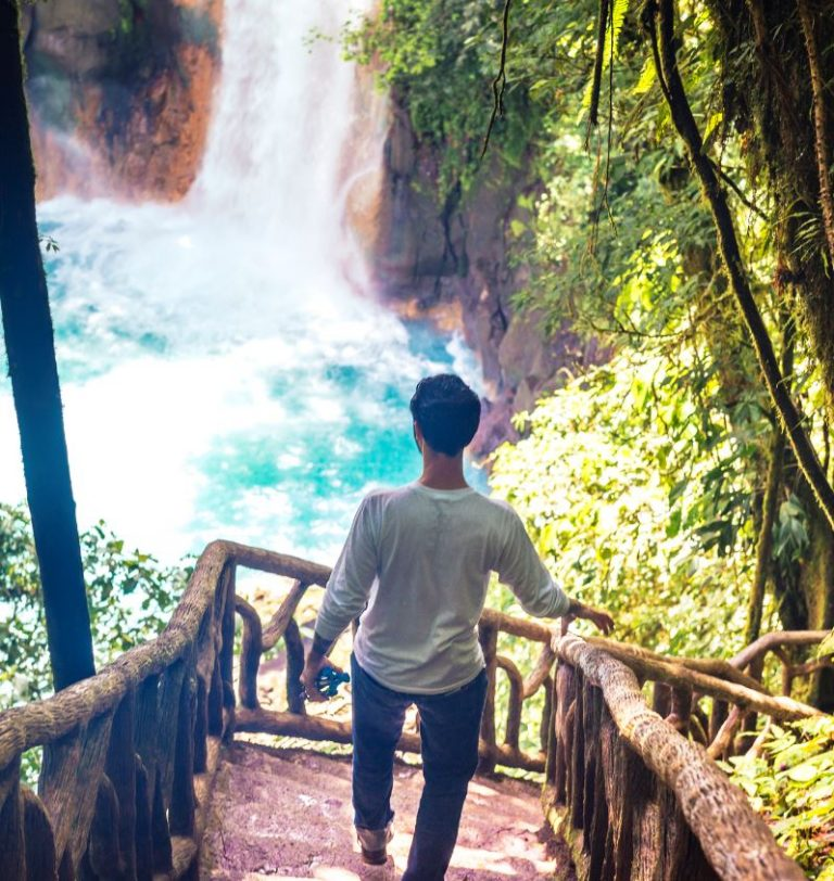 Rio Celeste, a waterfall in Tenorio National Park, Costa Rica