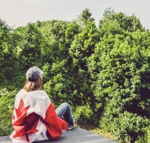 Canadian traveler hiking