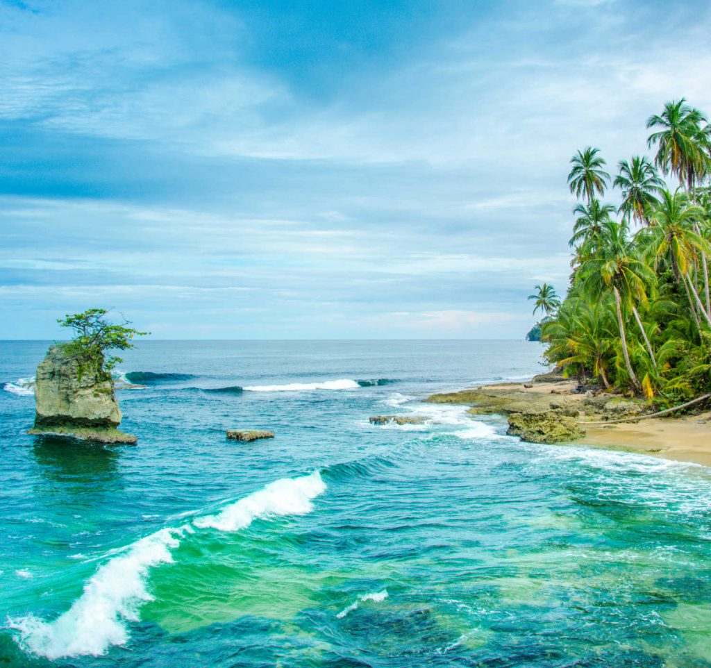 Wild caribbean beach of Costa Rica
