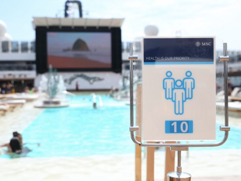 Pools are open on MSC cruise with rules