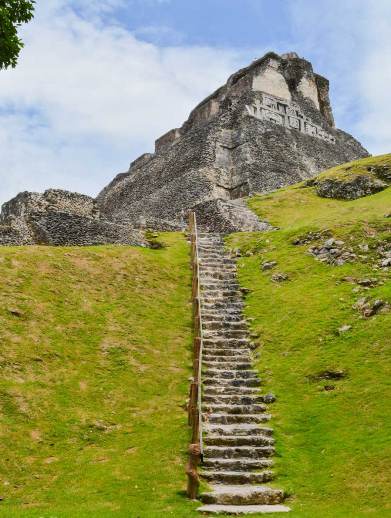 Xunantunich Archaeological Reserve. Historic ancient city ruins in Belize