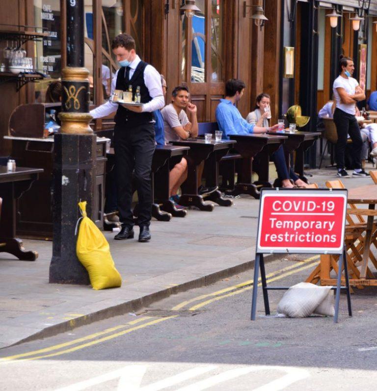 london restaurant during covid