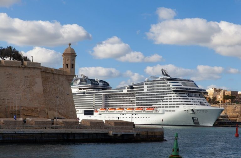 MSC Grandiosa cruising in Malta 2020