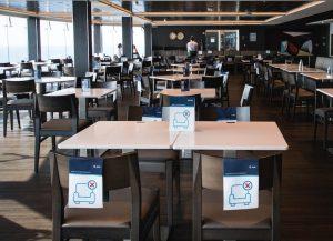 MSC socially distanced dining