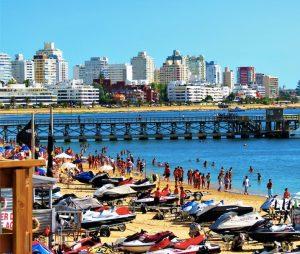 The normally busy Punta del Este coast