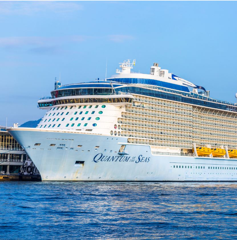 quantum of the seas front of ship