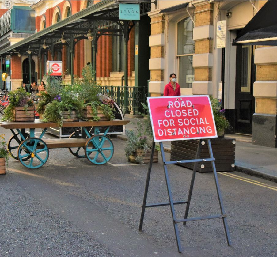 road closed social distancing