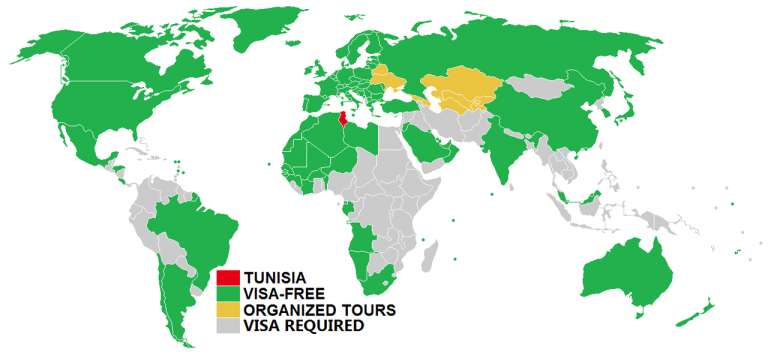 visa policy of tunisia