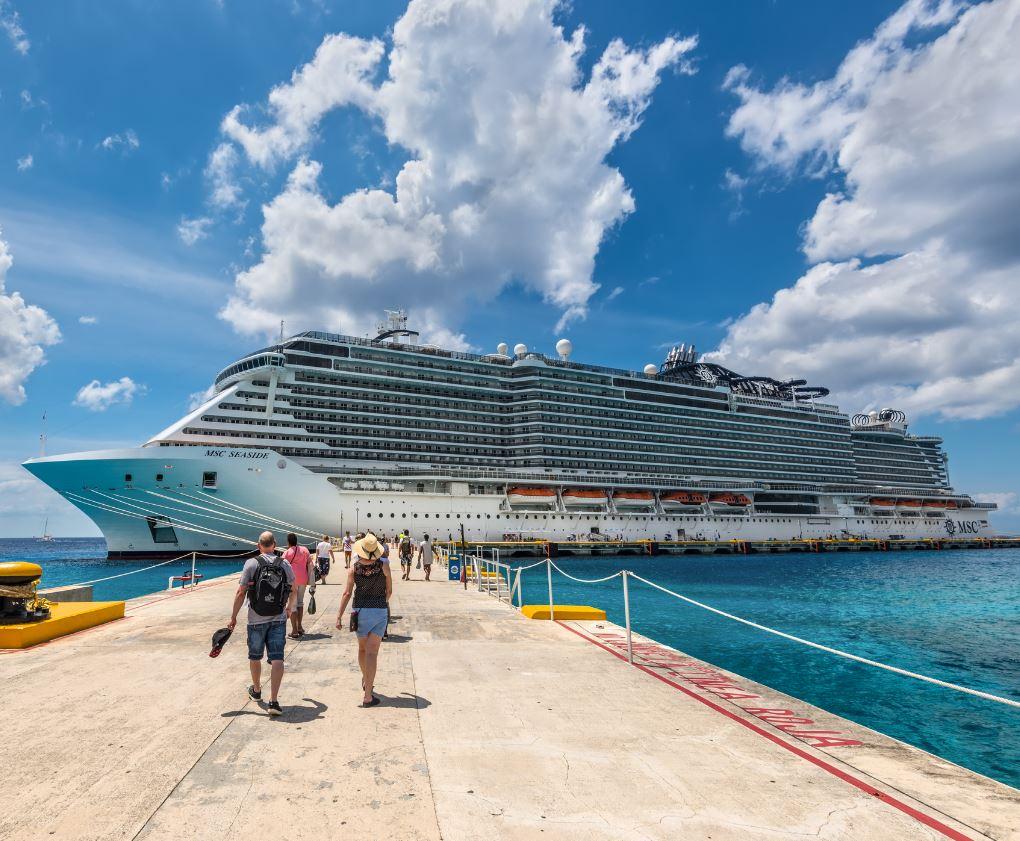 passengers board msc ship