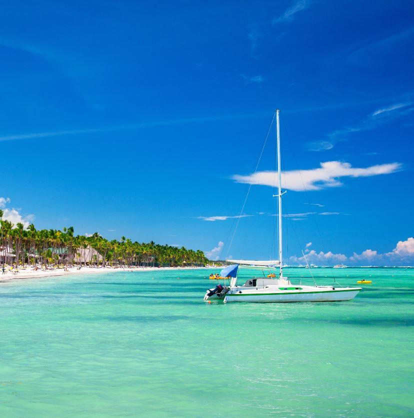 sailboat in ocean dominican republic