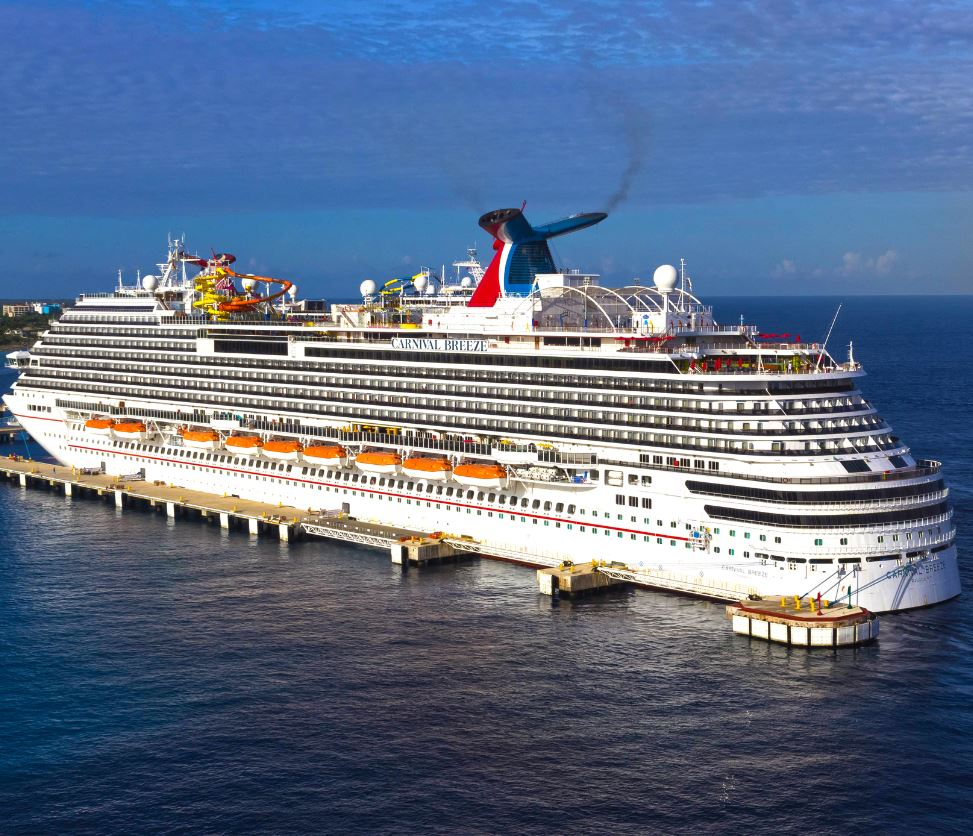 Carnival breeze cruise ship in Cozumel mexico