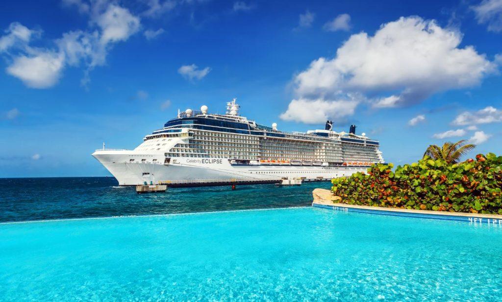 Celebrity Cruise ship in Caribbean