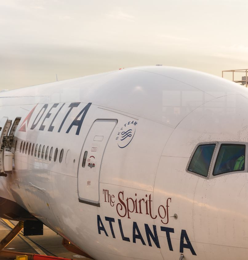 Delta airlines plane spirit of atlanta