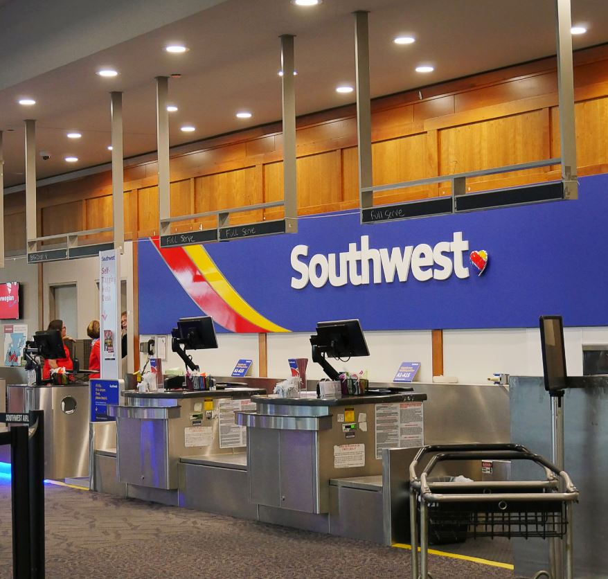 Southwest airlines check in area