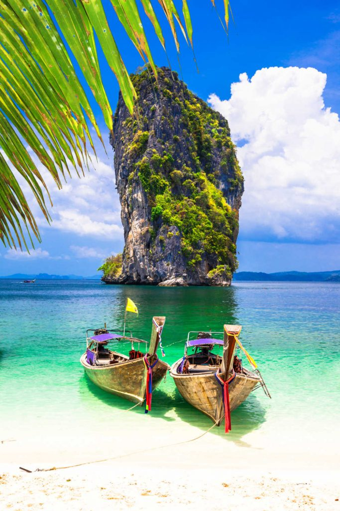 Tropical paradise in Thailand,Krabi province.