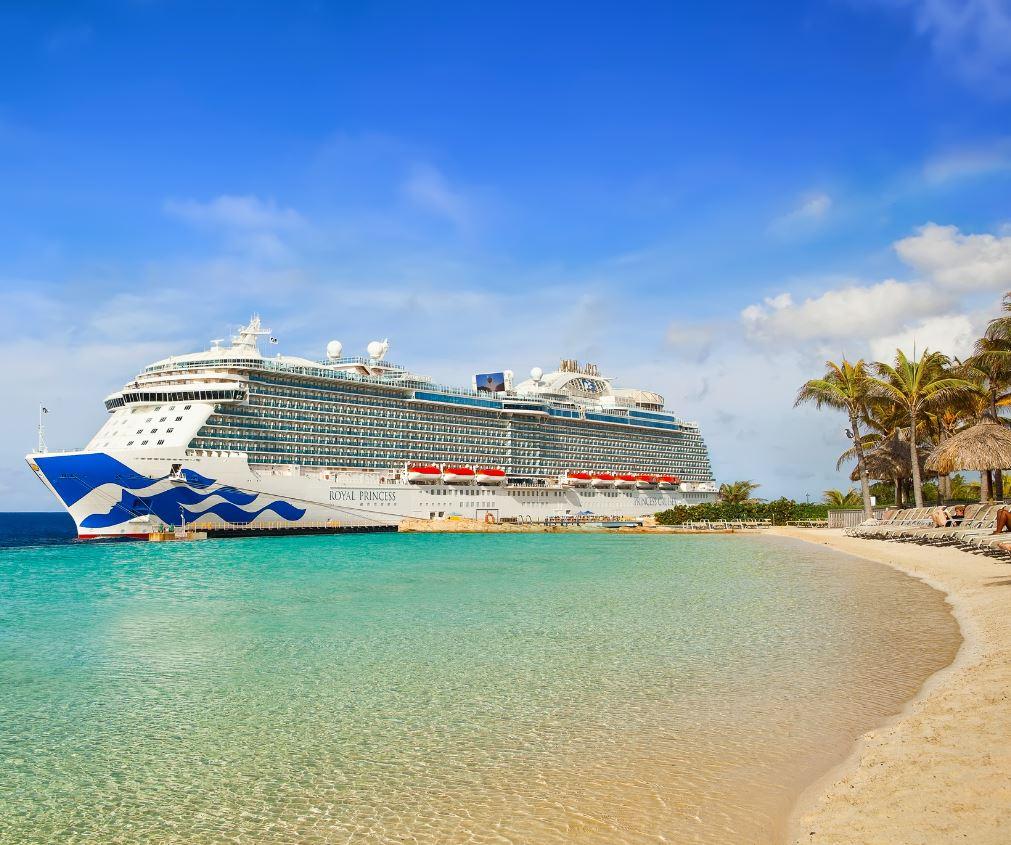 cruise ship beach
