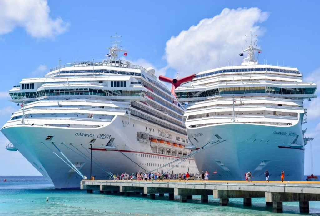 american passengers disembark two carnival cruise ships