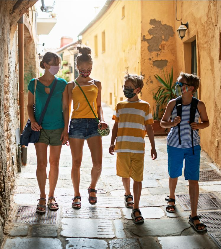 family travel masks europe