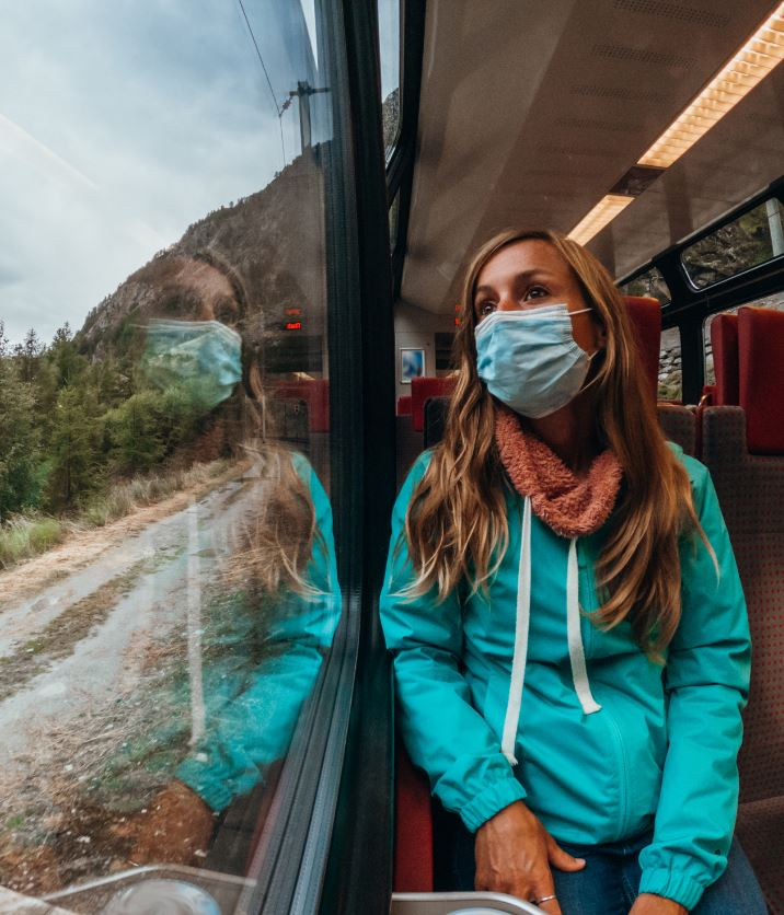 female train mask travel