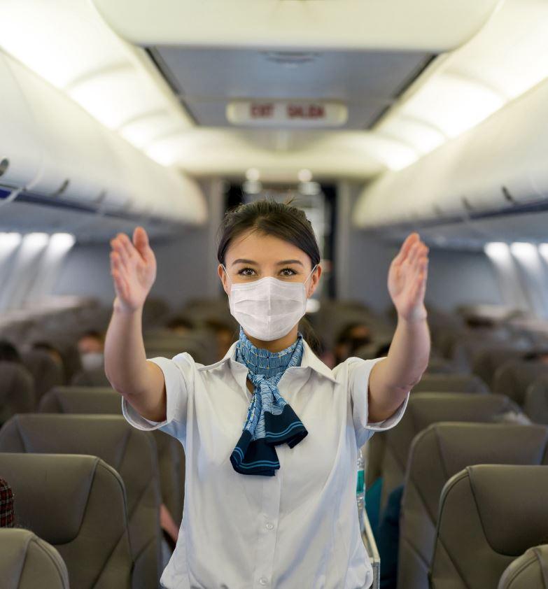 flight attendant mask