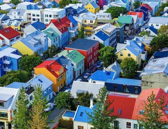 reykjavik iceland colorful houses