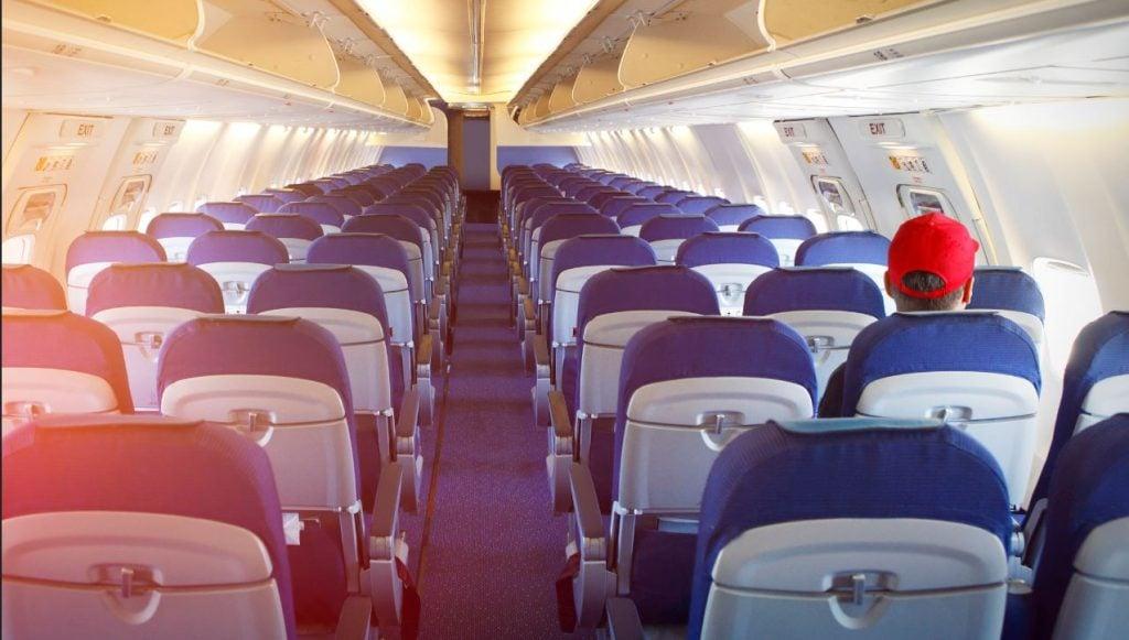 passenger on empty plane