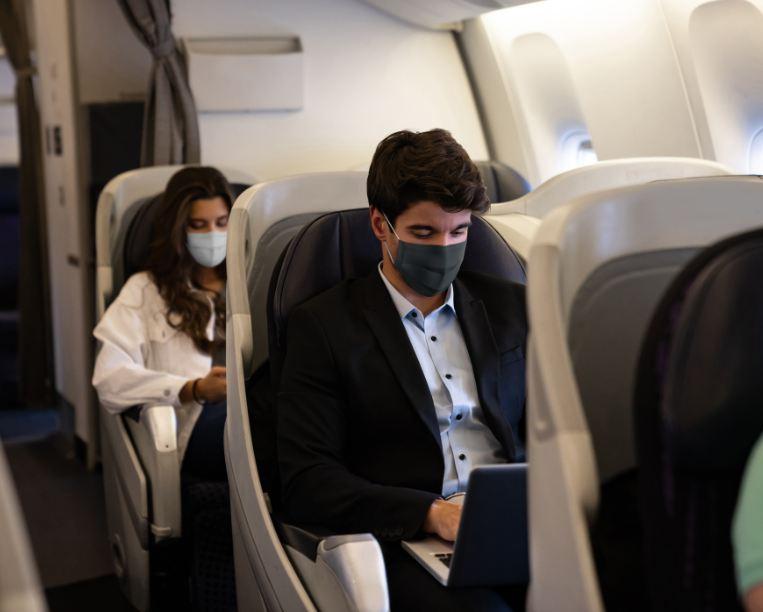 passengers plane mask