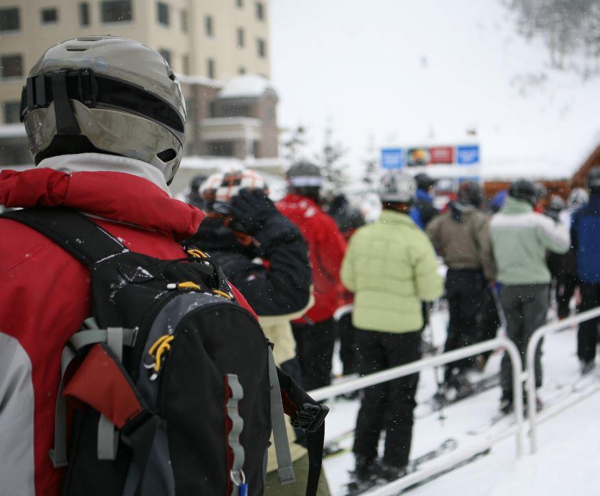 ski lift line