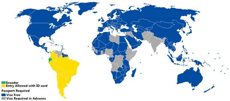 visa for ecuador