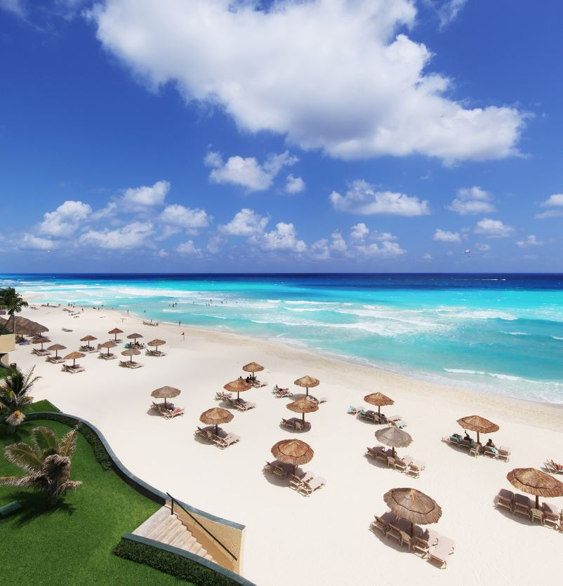 cancun white sand beach