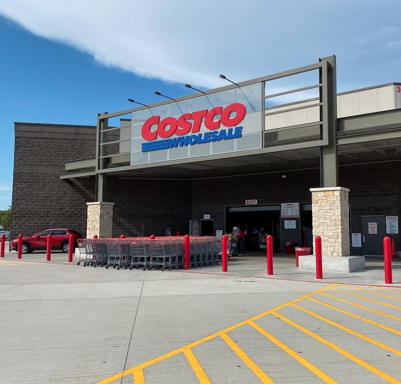 Costco entrance Texas, US
