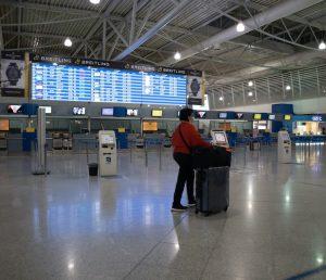 Greece airport empty