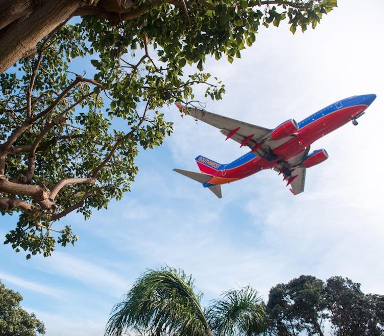 Southwest plane sky