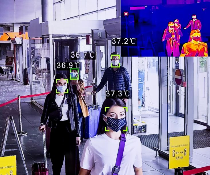 airport security digital temperature monitor