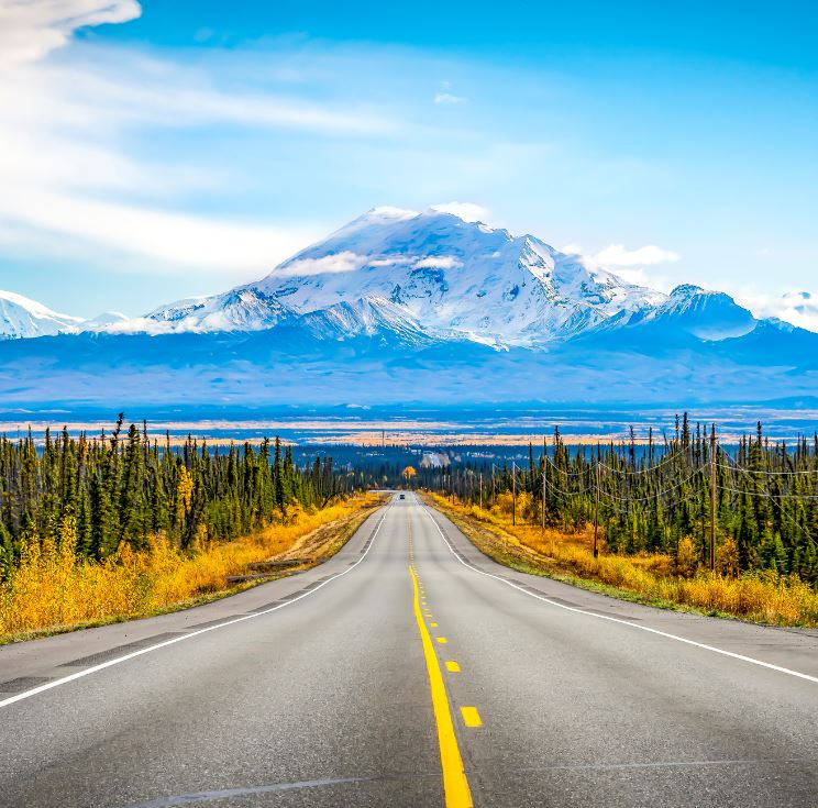 alaska mountain road