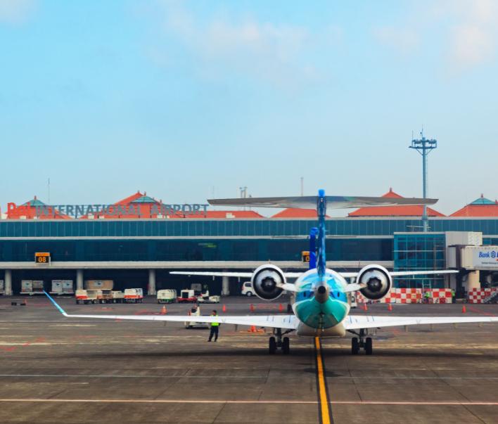 bali airport plane runway