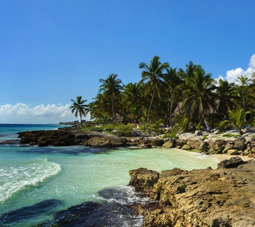 beach on the yucatan peninsula, Mexico