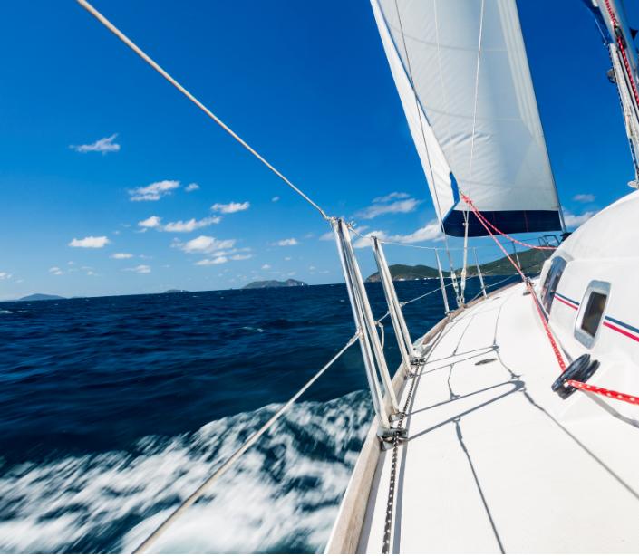 carribean boat sail sea island