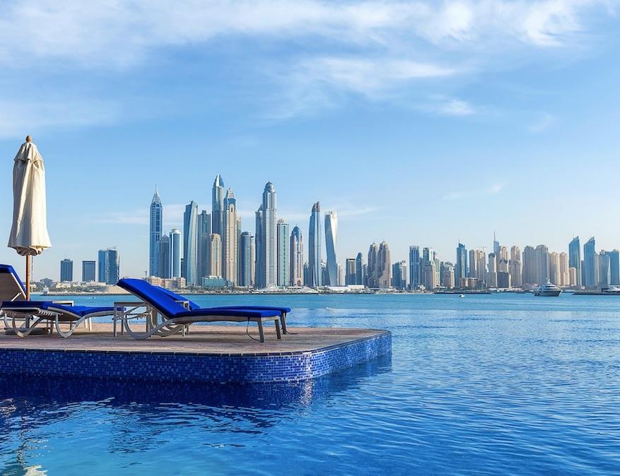 dubai pool skyline
