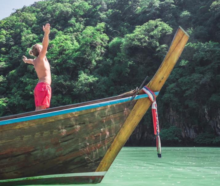 foreign traveler tourist thailand boat
