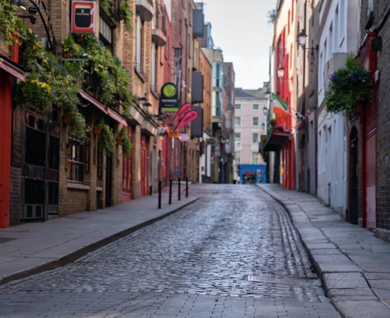 ireland empty streets covid