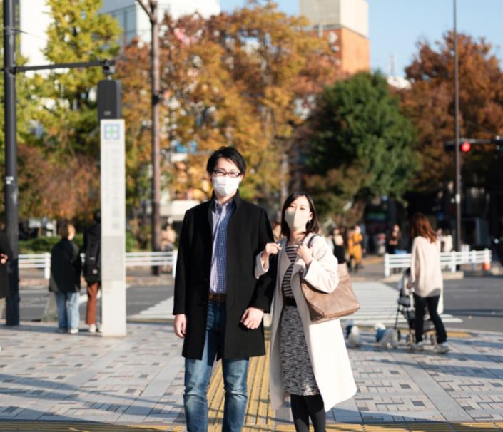 japan masks street covid