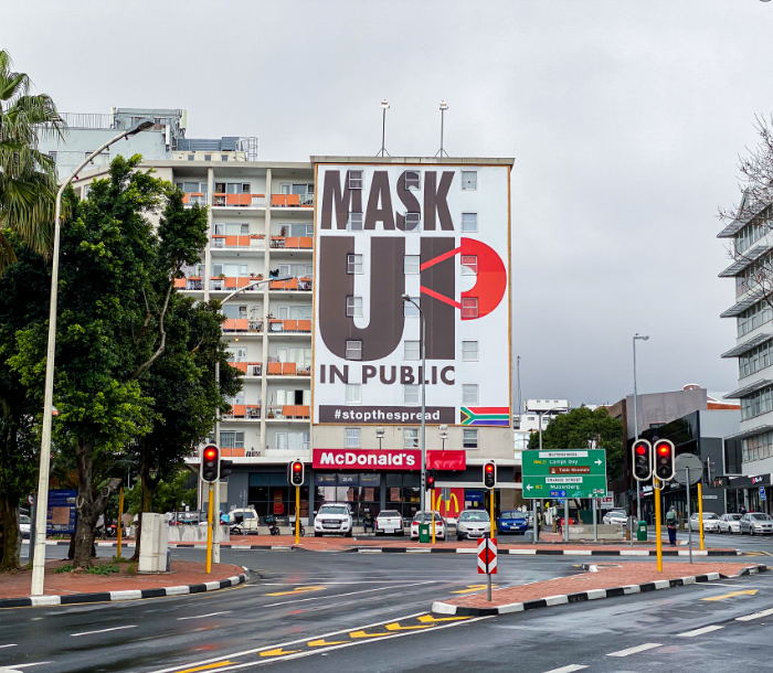 mask up sign cape town south africa