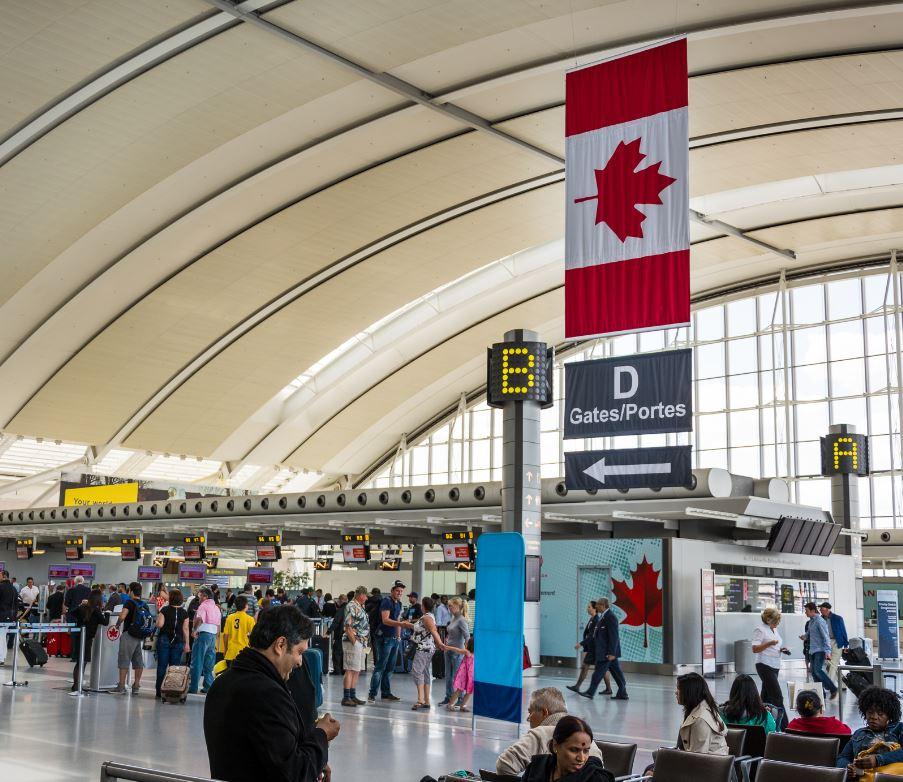 passengers at Toronto airport
