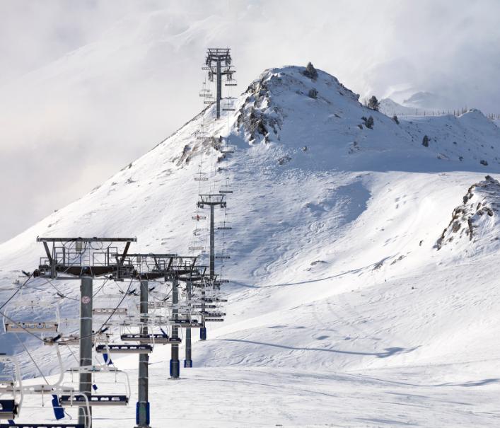 ski slope empty covid