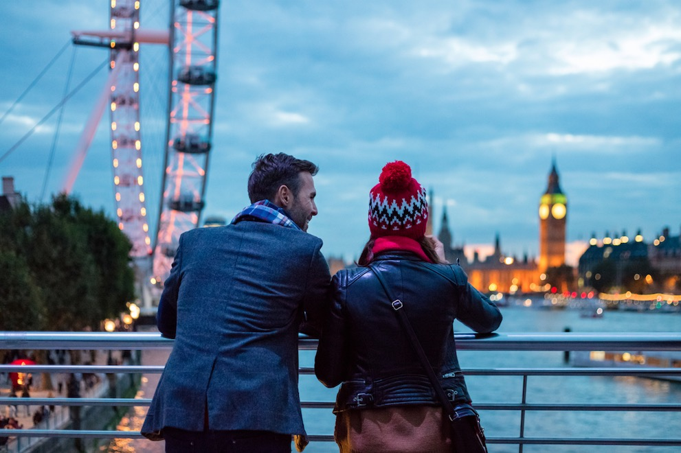 tourists in London