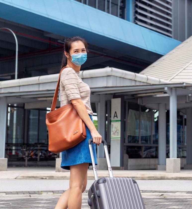 traveler mask luggage